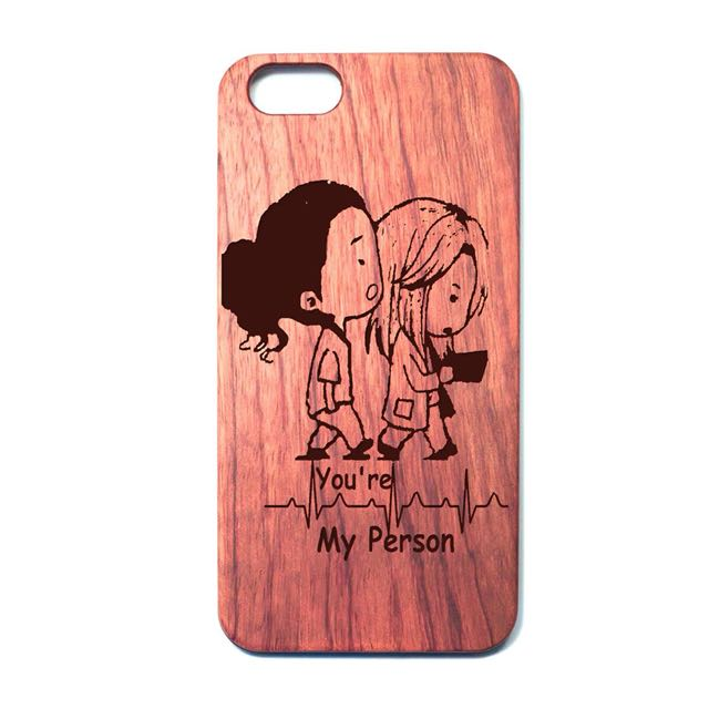 You\'re My Person Grey\'s Anatomy quote wooden iphone case ...