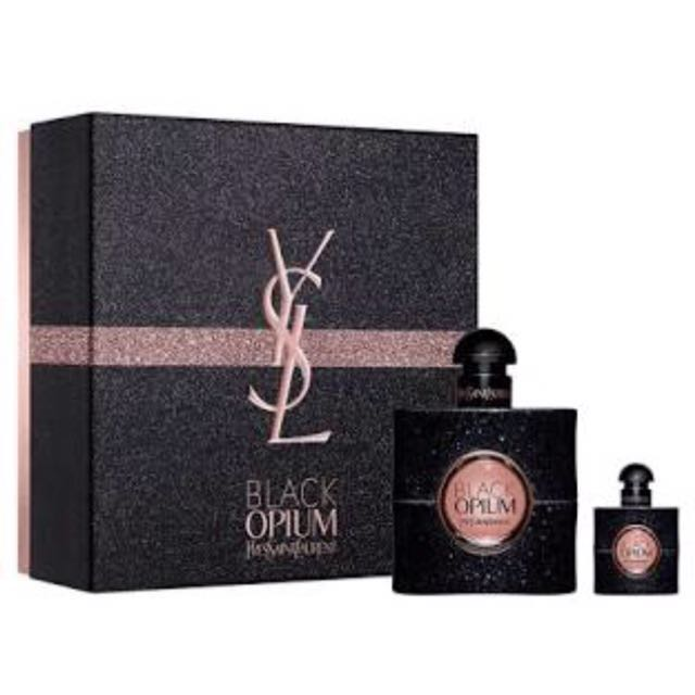 YSL black opium edp gift set 1 x 50ml 1 x 7.5ml mini