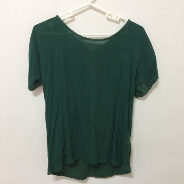 Zara Blouse With Back Zipper Accent (Size S)