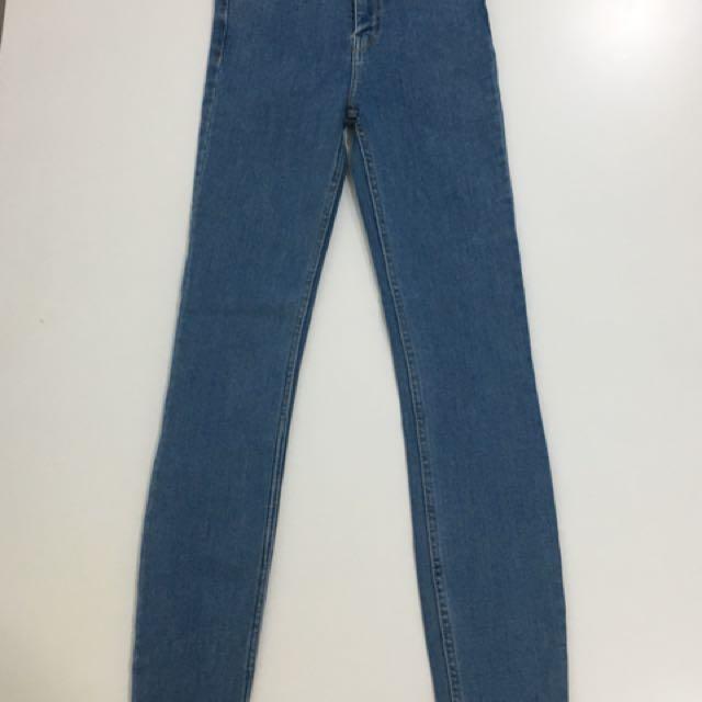 ZARA HIGH WAIST PANTS 24 waist line