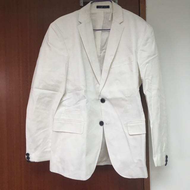 0a7d1922 ZARA MEN White Blazer, Men's Fashion, Clothes on Carousell
