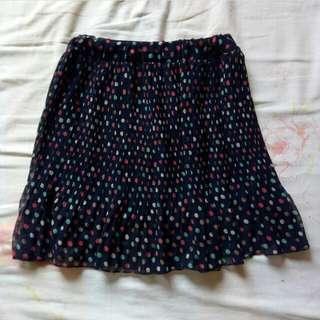 Polkadot printed skirt