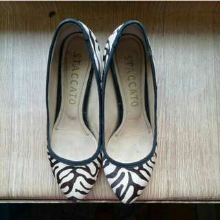 Staccato wedge shoes
