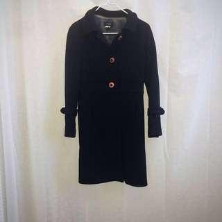 J Crew mid-length wool coat, size 2