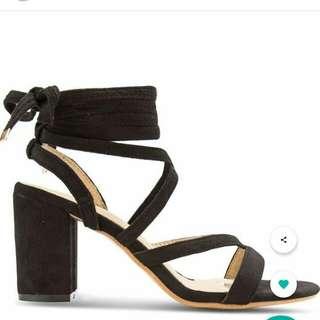 Zalora lace up block heels