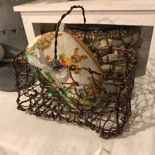 手工編織鐵籃 手做 裝飾