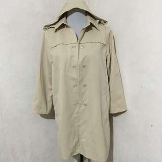 Korean Trench Coat With Hood (detachable)