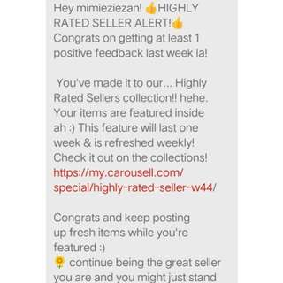 Recommanded seller