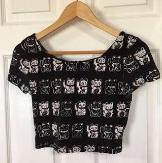 H&M Graphic Crop Tshirt (Small)