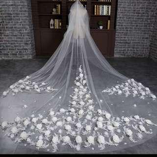 Brand New Super Long Wedding Veil