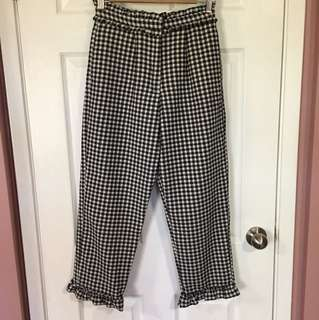 TopShop Gingham Pants (Size 4)