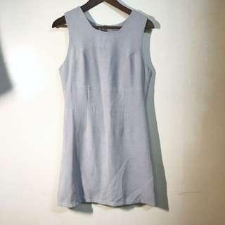格紋無袖洋裝