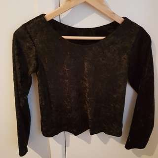 Crushed velvet crop
