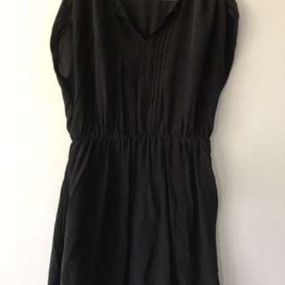 Witchery Black Silk Dress