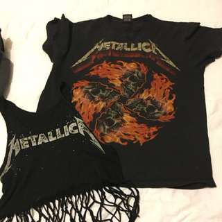 Metallica top singlet crop top