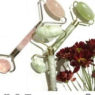 Authentic Jade and Rose Quartz roller