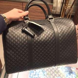 Outlet價 Gucci 波士頓旅行袋款 黑色現價一個