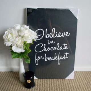 Chocolate for breakfast canvas