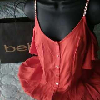 Bebe open shoulder dress