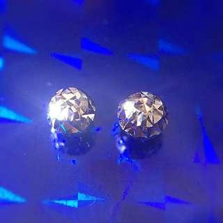 18KW  Earring 小白金珠耳環 耳釘(750)