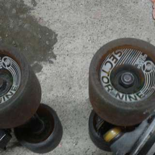 Sector 9 longboard wheels and trucks with extra trucks Big H