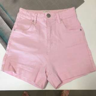 Cotton On Pink High Waisted Shorts 8