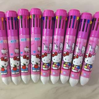Hello kitty 10 Colours pen - ideal goody bag gift