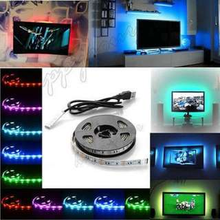 2@$8 usb 2 metres Led strip PnP bnip