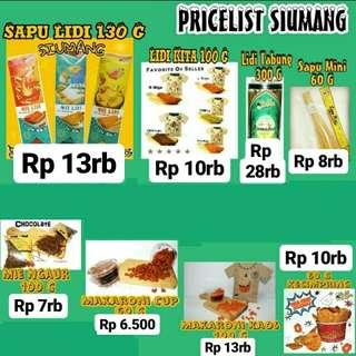 Price List Jajanan Lidi Si Umang