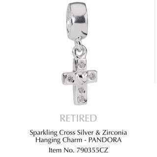 Silver Cross Pandora Charm