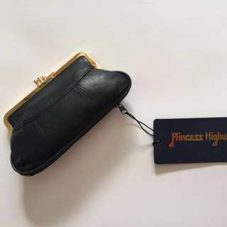 New Leather Clip Purse - Princess Highway - Navy