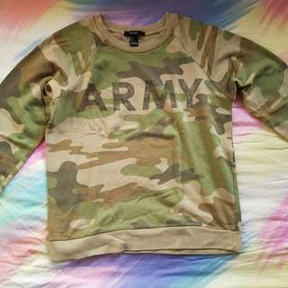 Forever 21 Army Sweater