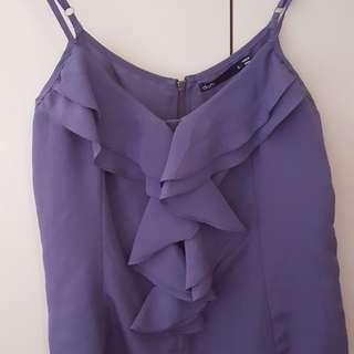 Dotti sz 8 Purple Singlet Top