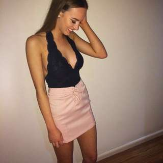 Pink Skirt-Also available in Black