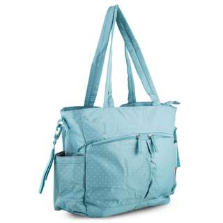 Bellotte Village On-The-Go Tote Nappy Bag - Light Blue Dot