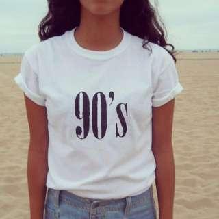 90's White Cotton Graphic Tee- New!
