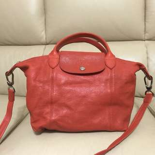 Longchamp lamb leather bag