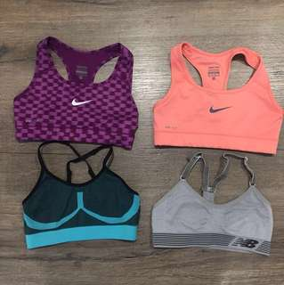 Sports Bras all size XS (NIKE, NEW BALANCE, CHAMPION brands)