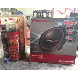 Subwoofer and Audio System Capacitor (Pioneer TS-W304R)