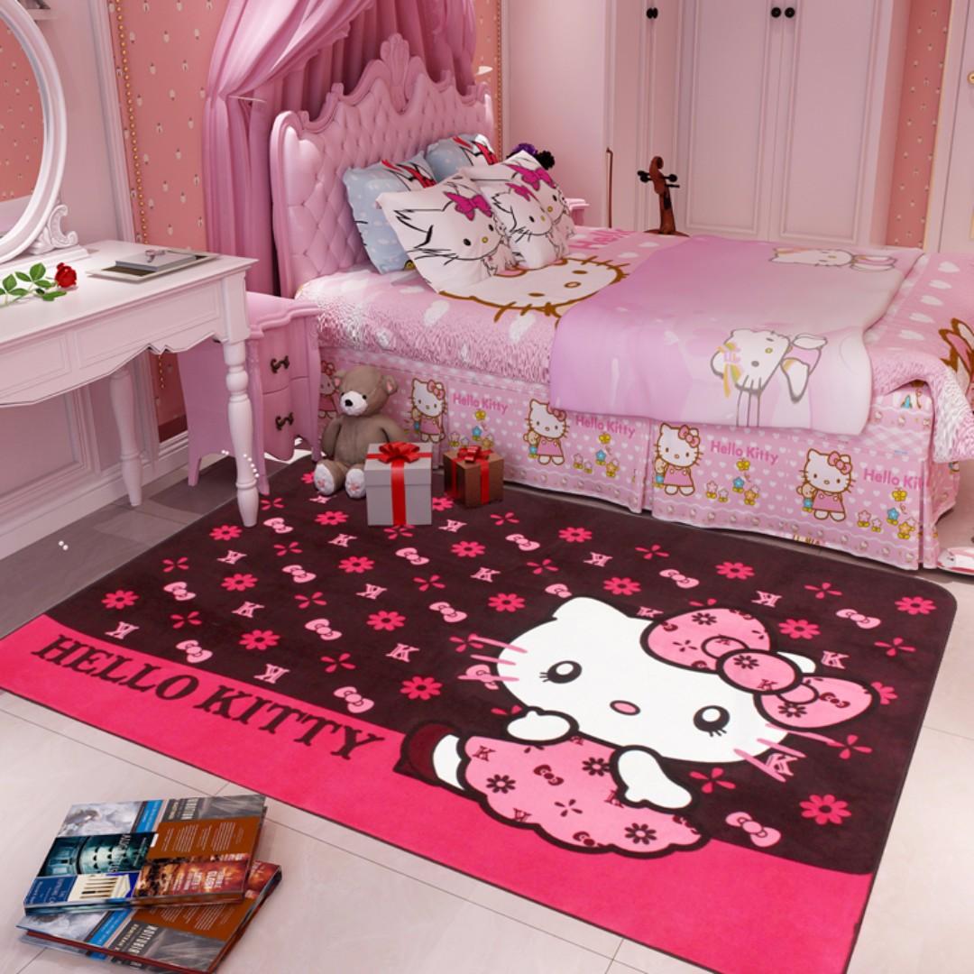 ☆★預購10-14天☆★客廳臥室家用公主房卡通女孩遊戲毯防滑墊