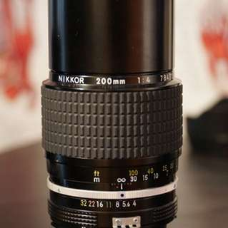 Nikon 200mm f4 Ai lens