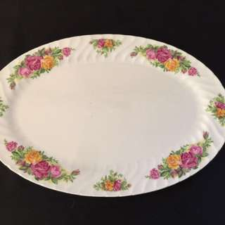English Rose 24 Inch Oval Platter