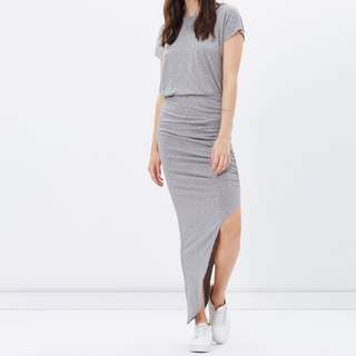 Atoms&here Grey Slit Maxi Dress