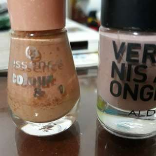 For FREE!!! Worth of PHP100 items and Up! Nail Polish ( Aldo  Essence Brand)