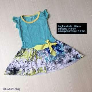 Circo Turquoise Flowery Dress (PRELOVED)
