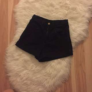 Black American apparel shorts