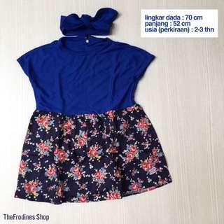 Lania Dress Royal Blue (NEW-No Label)