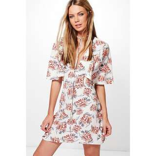 Brand New (with tags) Cream Floral Dress