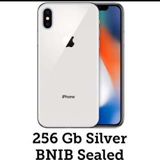 Brand new Iphone X silver 256gb