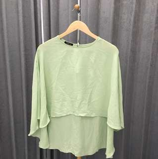 Pastel green top ( all size )